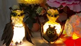 Светильник в детскую сова с совенком