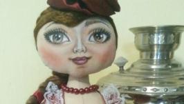 Кукла-грелка на чайник Натали