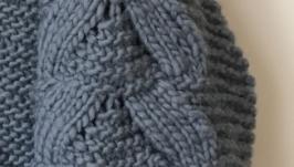 Кардиган крупной вязки «волна»