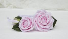 Обруч с розами, Ободок с розовыми цветами