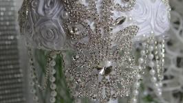Свадебный брошь-букет ′Сияние далёких галактик′