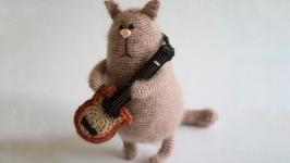 Интерьерная игрушка Кот рокер