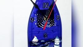 Часы на запеченой бутылке - морские