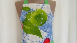Фартук для кухни Зеленое яблоко