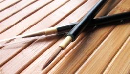 Японская профессиональная тонкая кисть для прорисовки на ткани, коже