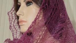 Оренбургский шарф палантин пуховый № 1020
