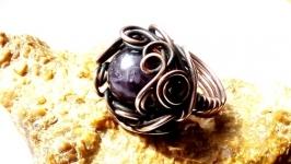 Кольцо Grand от Rome Paul из серии CUPRUM с натуральным аметистом