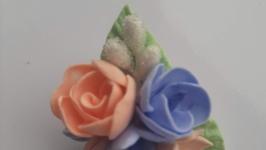 Брошь-мини с цветами