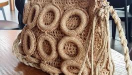 Вязаная сумочка ′Золотые колечки′