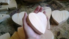 Сердце большое заготовка для декупажа