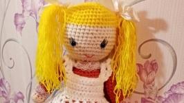 Кукла вязаная - Первоклассница
