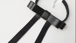 Кожаный чокер(брошь) ′Elya′