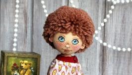 Текстильная куколка  Малыш с крендельком
