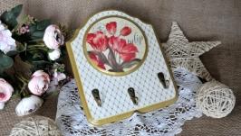 Ключниця ручної роботи ′Весняні тюльпани′
