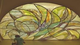 Витражный подвесной потолок-′Цветение′.