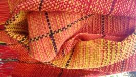 Домотканый женский шерстяной шарф - палантин