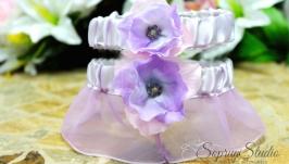 Свадебные подвязки комплект ′Весна Лауры′.