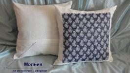 Подушка (наволочка на подушку 40*40 см) декоративная ′Якорь′