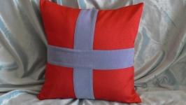 Наволочка декоративная ′Морская′ на подушку 40*40 см