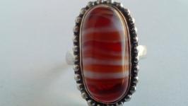 Кольцо Агат натуральный размер 19