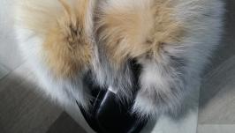 Тапочки из меха лисы
