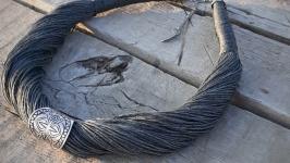 Стильное и яркое колье из натуральных материалов в стиле скифской этники