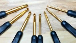 Крючки для вязания 2.5-6мм, черные. Наборы 8шт.