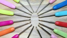 Крючки для вязания 1-2.75мм, цветные. Наборы 8шт.