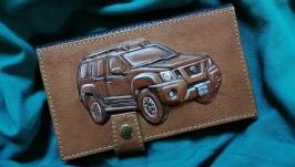Кожаный кошелек ′Nissan Xterra′