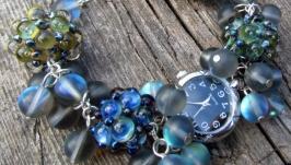 ′Северное сияние′ наручные часы с бусинами лэмпворк