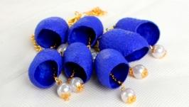 Ожерелье из коконов шелкопряда ′Ультрамарин ′