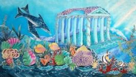 Батик-шарф ′Тайны морей′