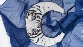 Валяный воротничок ′Белый тигр′