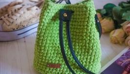 Вязаная сумка ручной работы (торбочка)