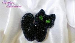Брошь ′Чёрный котик′