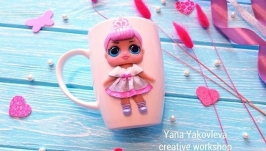Чашка кукла LOL фарфоровая