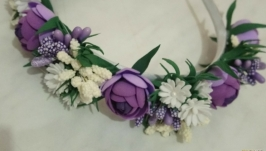 Ободок ′Сиреневый цветок′