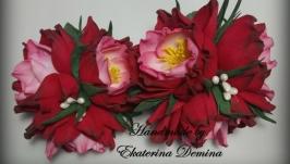 тут изображено Резиночки ′Красные цветы′