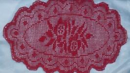 Вязаная салфетка Розы