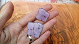 Комплект - кольцо и брошь из натуральных цветов гортензии в ювелирной смоле