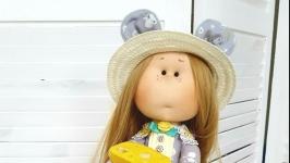 Аришка интерьерная текстильная кукла мышка