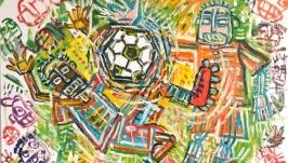 Картина Матч, абстракция, спорт, подарок болельщику, футбол