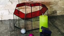 Сердце геометрический стеклянный флорариум для мини сада