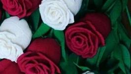 Розы из итальянской гофрированной бумаги