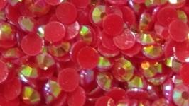 Стразы пластик перламутр 4мм, 100(,-5) шт
