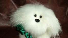 Игрушка из натурального меха собачка БЕЛЯНОЧКА.
