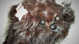 Игрушка из натурального меха собачка ЖУЖА.