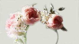 Ободок с нежными розами Миррей.