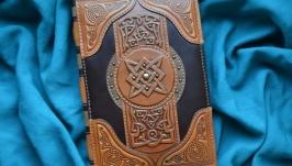 Блокнот ′КНИГА МАГИИ′ (Ежедневник в кожаной обложке)