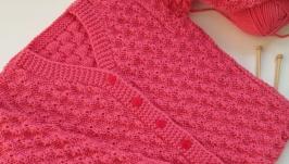 Кофта вязаная для девочки 110-116 см (5 - 8 лет)